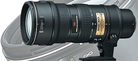 Nikon's AF-S VR Zoom-Nikkor 70-200mm f/2 is a zoom lens.