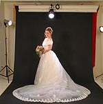 The CD's poses for the bride and groom work equally well in the studio, the bride's home, outdoors or just about anywhere.