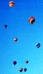 A perfect day for ballooning, captured on film by Claude Brown.