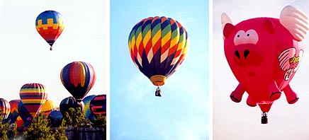 These colorful balloon photographs were taken by Claude Brown during