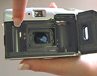 Many cameras that load automatically are almost foolproof. You put the film cartridge in and close the back.