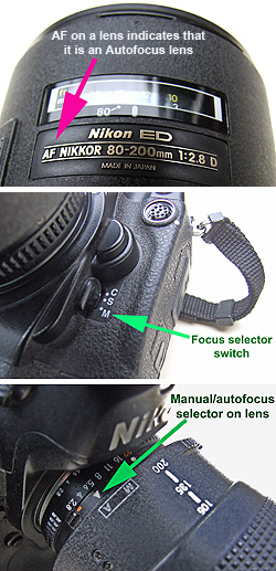 Selecting manual focus can usually be done by a switch on a camera and sometimes also on a lens, if your equipment is capable of manual focusing.