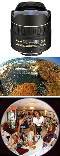 The QUASI-FISH-EYE LENS covers the entire film frame, actually showing less of the image than a true fish-eye lens.
