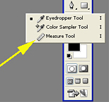 Click on the small ruler icon to use the Measure tool.