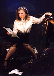 Props are sometimes essential when your subject is wearing a costume, as in this picture of popular singer Laura Jean Hogan taken for a CD cover.