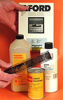 The essential materials are a B&W negative, chemicals and sensitized paper on which to make a print.