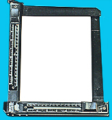 A printing frame holds paper and negatives (in a negative carrier) in contact with each other, and keeps them flat to make a sharp contact print.