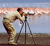 Amateur photographer, Renzo Segato, doing what he most enjoys.