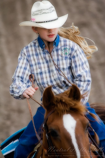 Looking confident and in control, this young rider seems to be completely in charge.