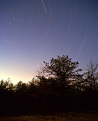 Include Earth-bound objects in your picture to add interest and drama to your star trails pictures.