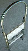 A lightweight ladder that folds flat is easy to use and practical.
