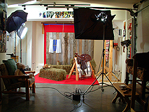 A professional photography studio's barn scene SET.