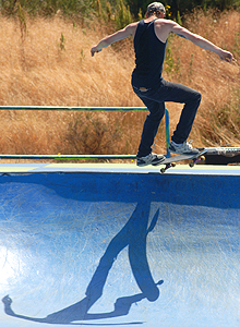 Did you know it is a skateboarder's shadow?