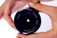 The APERTURE is the opening you see in the lens.