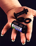 Bulk film is loaded into cartridges (cassettes) that can be disassembled and securely reassembled.