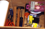 An orderly tool drawer is the sign of a precise, tidy framer. Precision is essential in framing pictures.