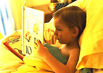 Capture your kids when they discover the joy of reading.