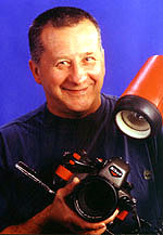Tom Sheldon with his underwater camera.