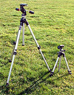 When you need more height, extend the tripod's legs before you raise the center column. You will have greater stability.