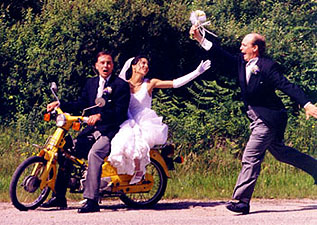 Spontaneity begins with the bridal couple. If they are having fun, everyone will usually get on the bandwagon.