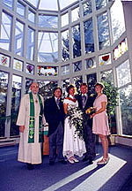 This particular church restricted photography during the wedding ceremony, but permitted interior pictures immediately afterwards.