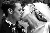 Black & white pictures are a popular special request, but we recommend using color, too, for your wedding pictures.